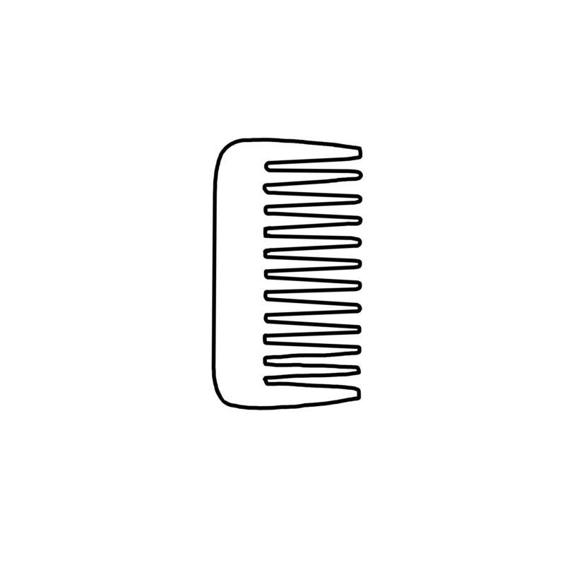 Styling Combs Made Of Horn