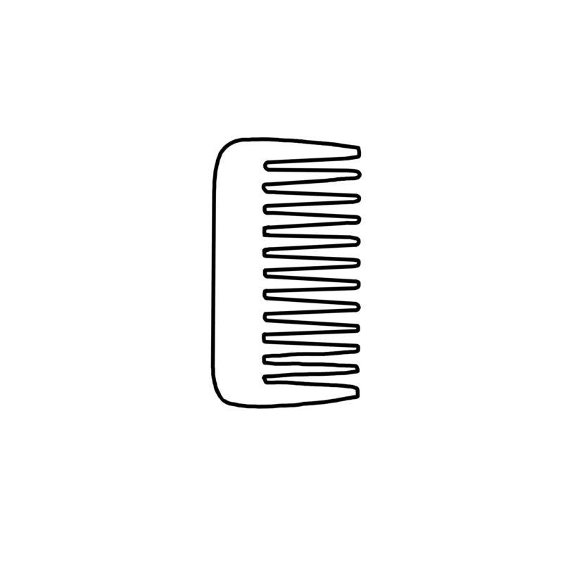 Styling-Kämme aus Horn