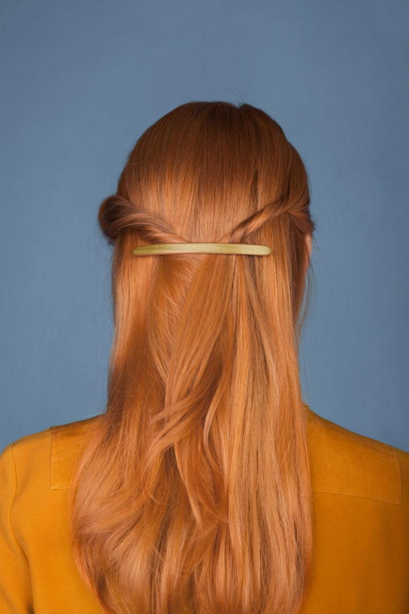Haarspangen einfarbig bunt